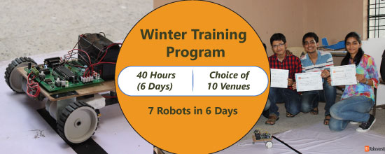 Winter Training Program on 7 Robots in 6 Days