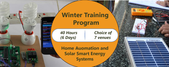 Winter Training Program on Home Automation and Solar Smart Energy Systems