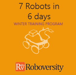 Winter Training Program on 7 Robots in 6 Days
