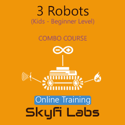 3 Robots for School Students Online Project based Combo Course