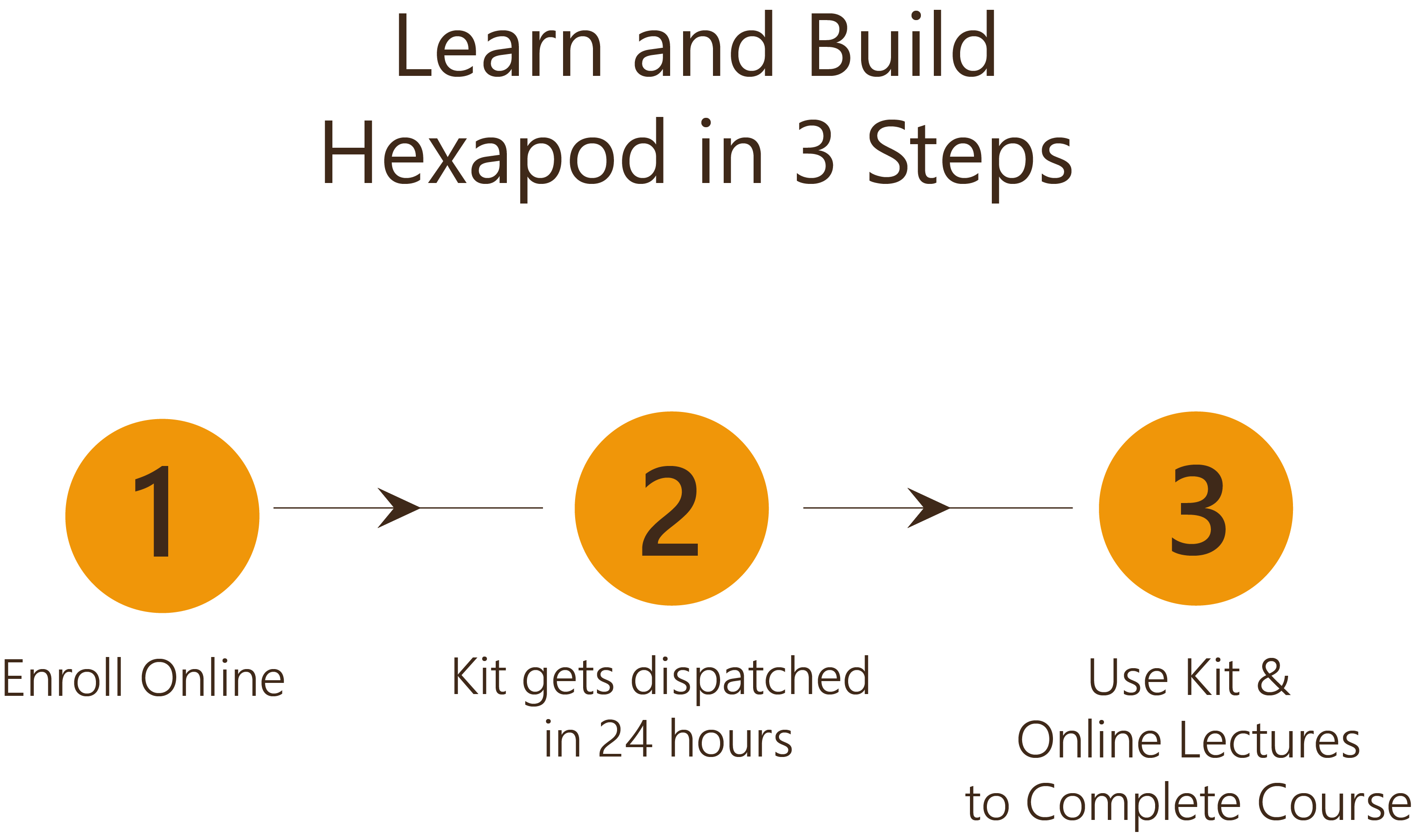 Learn and Build Hexapod in 3 Steps