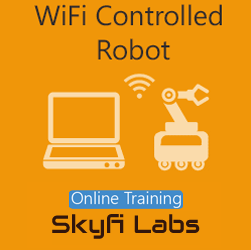 WiFi Controlled Robot Online Project based Course